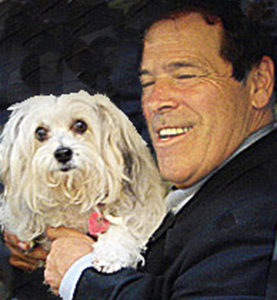 Credico w dog-moved, cropped-blk bckground-ligherskin tone